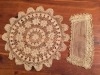 Irish crochet doily and cuff found in a Portland vintage shop