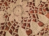 Closeup of Irish crochet doily