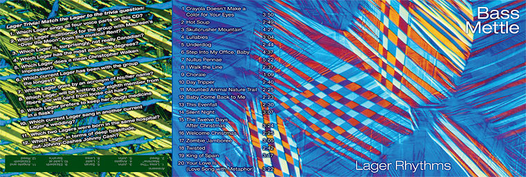 Lager Rhythms, Bass Mettle CD liner notes front