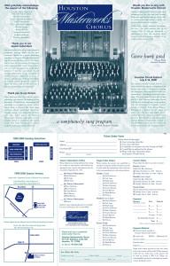 Houston Masterworks Chorus season brochure inside