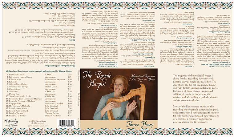 Therese Honey, The Royale Harpist CD package
