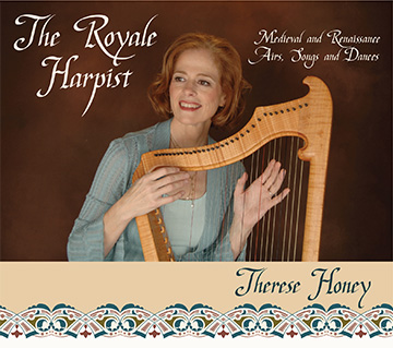 Therese Honey, The Royale Harpist CD front
