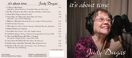 Judy Dugas, it's about time CD outside