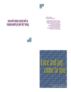 Love and Joy card