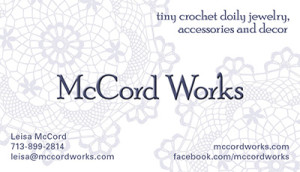 McCord Works business card