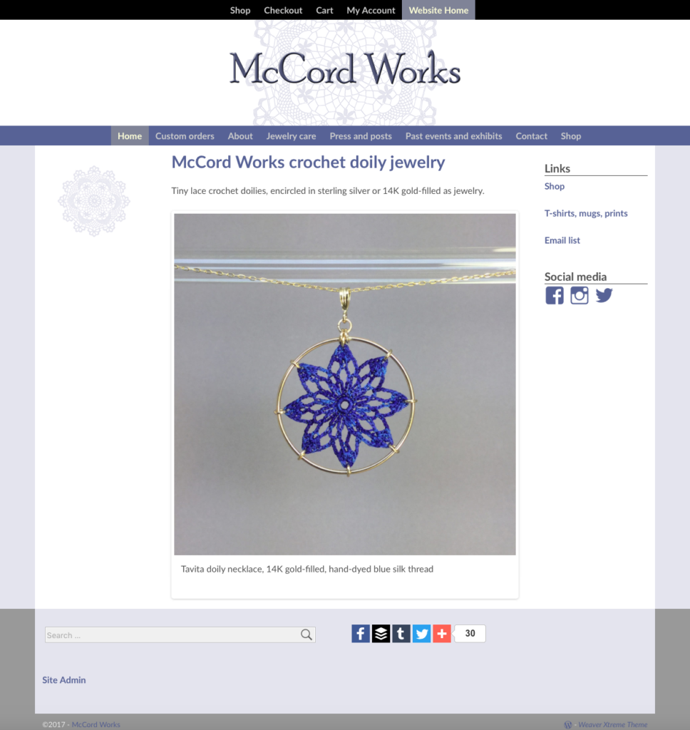 McCord Works home page
