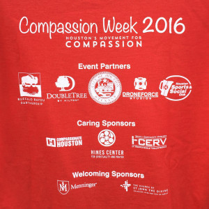 Compassion Week 2016 t-shirt, back