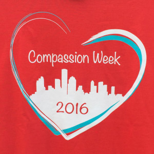 Compassion Week 2016 t-shirt, front