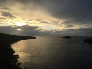 Whidbey Island – sunset at Deception Pass
