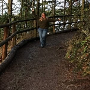 Whidbey Island – Laurie at Deception Pass (photographer: Elizabeth)