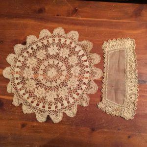 Irish crochet doily and cuff found in a Portland vintage shop