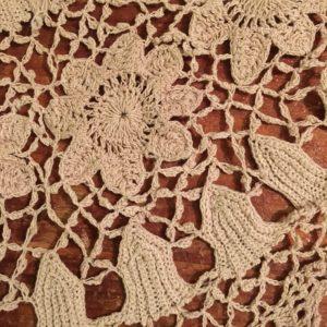 Closeup of Irish crochet doily
