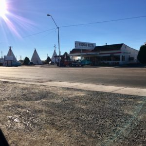 Wigwam Motel, except these are teepees, in Holbrook AZ